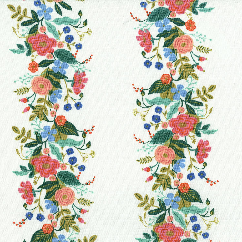 Ab8058 001 English Garden Floral Vines Cream Fabric Cotton