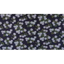 RP201-NA7K Meadow - Hydrangea - Navy Knit Fabric 2