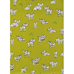 A4025-001 Clover - Little Lambs - Green Fabric