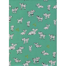 A4025-003 Clover - Little Lambs - Turquoise Fabric