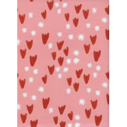 A4027-002 Clover - Tulips - Pink Fabric
