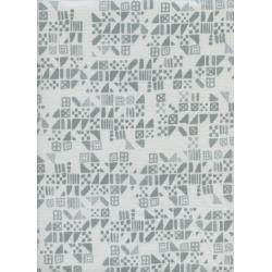A4029-001 Clover - Tiny Tiles - Dove Fabric