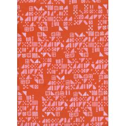 A4029-002 Clover - Tiny Tiles - Persimmon Fabric