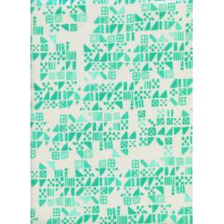 A4029-003 Clover - Tiny Tiles - Aqua Fabric