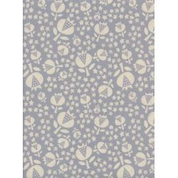 A4048-001 Flower Shop - Thistle - Sky Unbleached Cotton Fabric