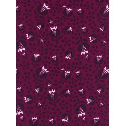 A4050-035 Flower Shop - Thistle - Cerise Rayon Fabric