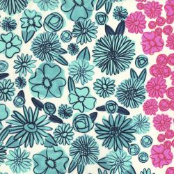 A4006-011 Hatbox - Palm Springs - Blue Lawn Fabric