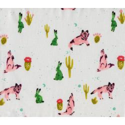 A4007-001 Mesa - Spirit Animal - Snow Fabric