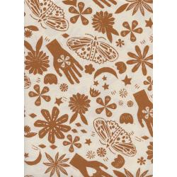 A4067-004 Moonrise - Dream - Earth Unbleached Cotton Fabric
