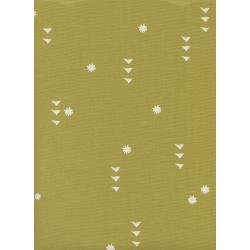 A4074-002 Moonrise - Rain - Cactus Unbleached Cotton White Pigment Fabric