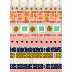 A4016-001 Paper Bandana - Paper Cuts - Earth Unbleached Cotton Fabric