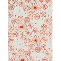 A4019-003 Paper Bandana - Posy - Copper Fabric