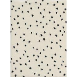 A4034-001 Print Shop - Starry - Black Unbleached Cotton Fabric