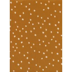 A4034-002 Print Shop - Starry - Earth Unbleached Cotton White Pigment Fabric