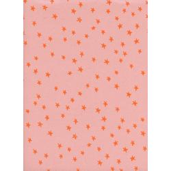A4034-004 Print Shop - Starry - Seashell Unbleached Cotton Neon Pigment Fabric