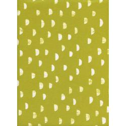 A4035-004 Print Shop - Moons - Grass Unbleached Cotton White Pigment Fabric