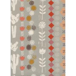 A4061-002 Sunshine - Collage - Grey Unbleached Cotton Fabric