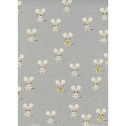A4064-002 Sunshine - Little Friends - Natural Unbleached Cotton Fabric