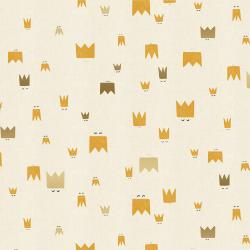 AE103-ST2UM Dear Friends - Royal Folk - Straw Unbleached Metallic Fabric