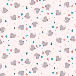 AE203-BL2 Summer Skies - Fox Friends - Blush Fabric
