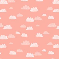 AE204-BL4 Summer Skies - Summer Clouds - Blush Fabric
