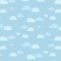 AE204-SB3 Summer Skies - Summer Clouds - Sky Blue Fabric