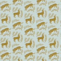 AM100-BE2UM All Through the Land - Grassland - Bright and Early Unbleached Metallic Fabric