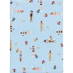 AB8047-002 Amalfi - Sun Girls - Sky Fabric