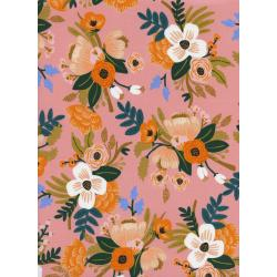 AB8052-015 Amalfi - Lively Floral - Coral Rayon Fabric