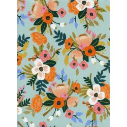 AB8052-035 Amalfi - Lively Floral - Mint Rayon Fabric