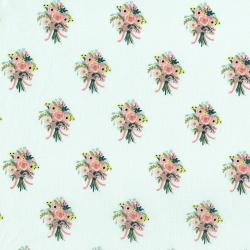 AB8061-001 English Garden - Bouquets - Cream Fabric