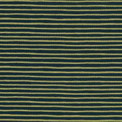 AB8062-002 English Garden - Painted Stripes - Navy Metallic Fabric