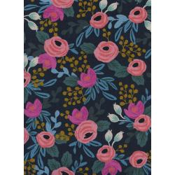 AB8012-022 Menagerie - Rosa - Navy Canvas Fabric