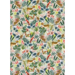 AB8029-002 Menagerie - Jungle - Natural Unbleached Cotton Fabric
