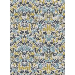 AB8031-003 Menagerie - Tapestry - Natural Unbleached Cotton Metallic Fabric