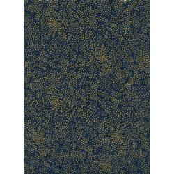 AB8033-003 Menagerie - Champagne - Navy Metallic Fabric