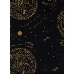 AB8034-021 Menagerie - Celestial - Navy Lawn Metallic Fabric