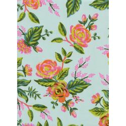 AB8037-015 Menagerie - Jardin De Paris - Mint Rayon Fabric