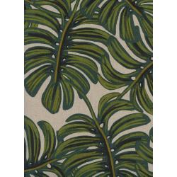 AB8039-012 Menagerie - Monstera - Natural Canvas Fabric