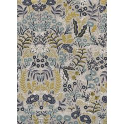 AB8040-012 Menagerie - Tapestry - Natural Canvas Metallic Fabric
