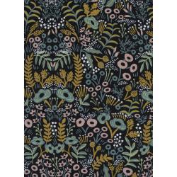 AB8040-022 Menagerie - Tapestry - Midnight Canvas Metallic Fabric