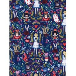 AB8013-001 Wonderland - Wonderland - Navy Metallic Fabric