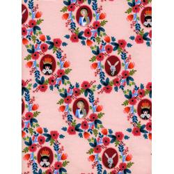 AB8014-002 Wonderland - Cameos - Rose Fabric
