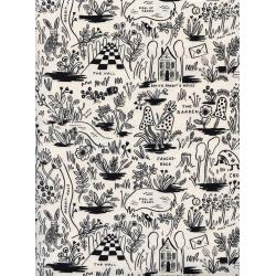 AB8017-001 Wonderland - Magic Forest - Neutral Unbleached Cotton Fabric