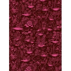 AB8017-035 Wonderland - Magic Forest - Ruby Rayon Fabric