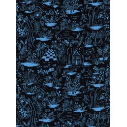 AB8017-045 Wonderland - Magic Forest - Blue Rayon Fabric