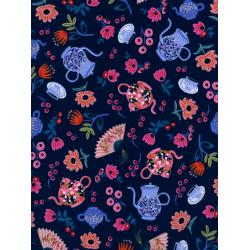 AB8019-001 Wonderland - Garden Party - Navy Fabric