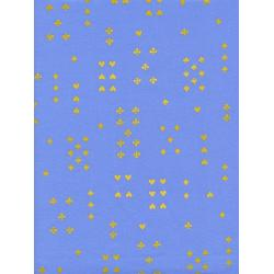 AB8021-001 Wonderland - Follow Suit - Periwinkle Metallic Fabric