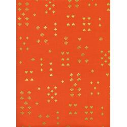 AB8021-002 Wonderland - Follow Suit - Orange Metallic Fabric