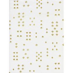 AB8021-031 Wonderland - Follow Suit - Cream Lawn Metallic Fabric
